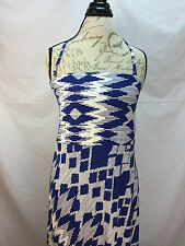 NWOT Chico's Blue & White Full Length Dress