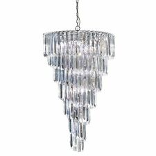 Searchlight 7999-9CC Sigma 9 Light Chrome Chandelier with Large Acrylic Blocks