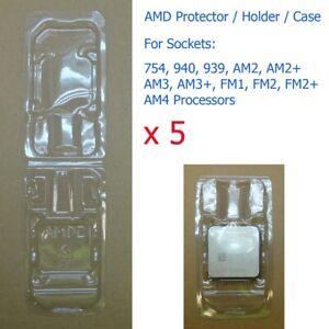 5 x Socket 754 940 939 AM2 AM3 FM1 FM2 AM4 Processor CPU Cover Holder Protector