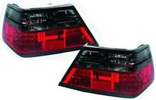 Back Rear Tail Lights Pair Set LED Clear Red Black For Mercedes W124 85-95