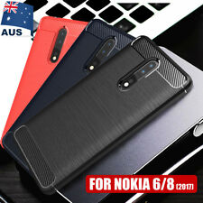 Nokia 8 Case Shockproof Heavy Duty Rugged Carbon Fiber Bumper Cover For Nokia 6
