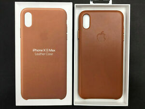 Genuine  Apple iPhone XS Max Leather Case - Saddle Brown NEW / MRWV2ZM/A