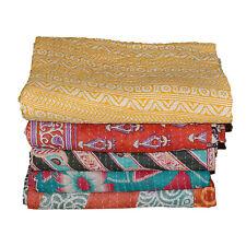 Vintage Patola Sari Kantha Quilt Patchwork Bedspreads,Throws,Ralli,Gudari