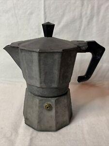 Vintage Pezz Etti Express Italian Coffee Espresso Maker Stove Top Italy Metal