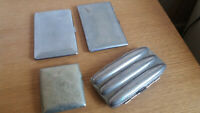 FOUR VINTAGE CHROME  / SILVER PLATED CIGARETTE / CIGAR CASES
