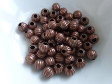 50 X Calabaza Redonda espaciador granos De Cobre Rojo De Tono De 6mm, perlas resultados (mbx0002)