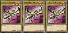Curse of Dragon X 3 Mint YUGIOH Cards YGLD-ENA07/ DB1