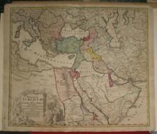ARABIA TURKEY MIDLLE EAST GREECE IRAN 1720 HOMANN ANTIQUE COPPER ENGRAVED MAP