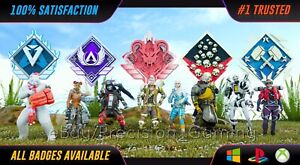 Apex Legends GENUINE Any Badges/Legend, 4k Damage, 20 Kill Badge PC PS4 PS5 XBOX