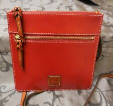Dooney & Bourke ~DOUBLE ZIP Leather Shoulder Crossbody Purse ~RED~ NWT $118