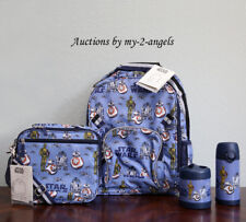 Pottery Barn Kids STAR WARS DROIDS Large Backpack Lunch Bag Water Bottle Thermos