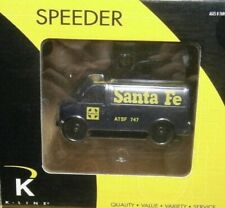 ✅ K-LINE SANTA FE MOTORIZED VAN SPEEDER CAR FITS LIONEL MTH ATLAS O GAUGE TRAIN