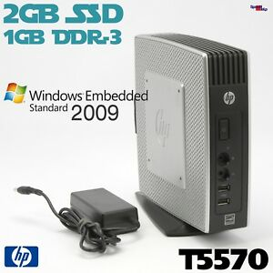 HP Thinclient T5570 Computer PC RS-232 Windows XP Embedded Standart 2009 WES09