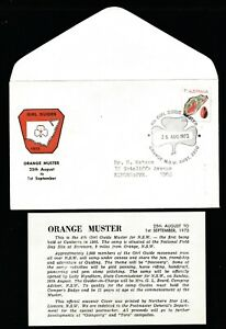 1973 4th NSW GIRL GUIDE MUSTER ORANGE DECIMAL STAMP OFFICIAL SOUVENIR COVER #O11