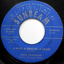 "GERRY GRANAHAN 45 A Ring A Braclet A Heart / ""A"" You're Adorable TEEN Pop m466"