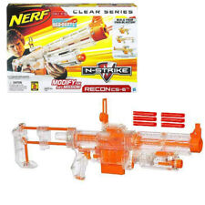 NERF N-STRIKE RECON CS-6 BLASTER - RARE CLEAR / RED DART VERSION - BRAND NEW!