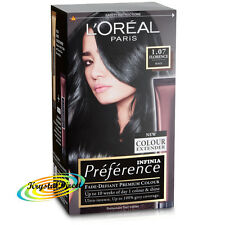 Loreal Infinia Preference 1.07 Florence BLACK Permanent Hair Colour Dye