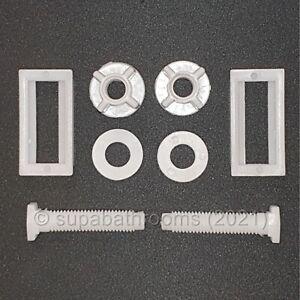Toilet seat fixings Screws Pair Easy Fit Bottom Fixings White Fittings Kit Set