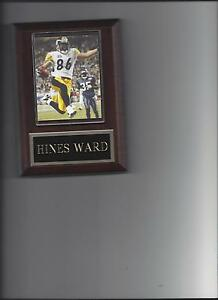 HINES WARD PLAQUE PITTSBURGH STEELERS FOOTBALL NFL TOUCH DOWN