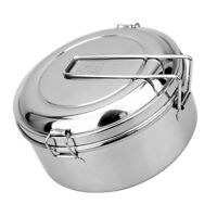 Small Food Camping Box Stainless Steel Mess Kit BBQ Container for Outdoor