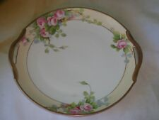 Beautiful Hand Painted Nippon Floral Round two handled Platter