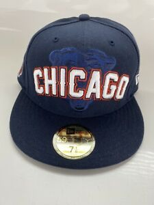 Chicago Bears NFL Authentic New Era 59FIFTY Fitted Blue Cap Size 7 1/8 - New