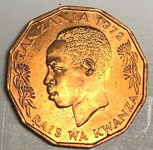 # C1606     TANZANIA    COIN,    5  SENTI   1966  Unc.