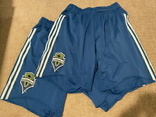 2x ADIDAS SEATTLE SOUNDERS FC SHORTS - SSFC Climacool Soccer MLS Jersey Size M