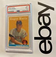 Roger Maris ROOKIE PSA 3.5 Topps Collector Card Major League Baseball 1958 #47