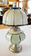 Miniature antique milk glass oil lamp