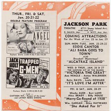 Movie Herald Jackson Park Theatre Ali Baba Goes To Town - Fit For A King~106446