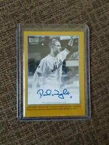 DAVID WRIGHT 2020 Archives Snapshots WALKOFF WIRES Gold Auto 03/10