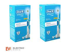 2 x Braun Oral-B Vitality 3D weiß Aufladbare elektr. Zahnbürste mit Timer