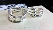 solid sterling silver toe rings, 2 silver toe rings, gift boxed.