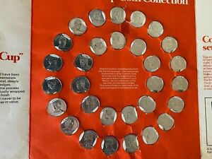 Esso World Cup 1970 England Football Team Squad Coin Collection - Complete