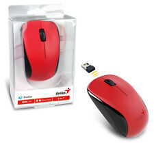 Genius NX-7000 Wireless Mouse W/ Blue Eye Sensor to Use on Any Surface - RED