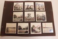 Lot original Fotos WWI Kavallerie Militär Kutsche Ernte Westfront Offiziere?