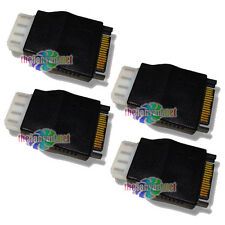 4 Qty. SATA 15 Pin Male to Molex 4 pin Female Power Adapters! Set of Four!
