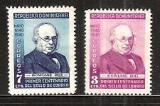 Dominican Rep #356-7 Mint Centenary First Postage Stamp