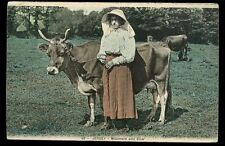 Channel Islands JERSEY Milkmaid and cow early PPC