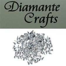 200 x 4mm Clear Teardrops Diamante Loose Flat Back Rhinestone Vajazzle Body Gems