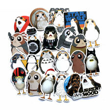 40Pcs Star Wars Cute Bird Porg Porglet Chewbacca Stickers For Laptop Skateboard