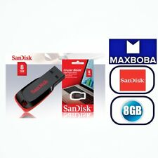 8GB Flash Drive USB 2.0 Memory Stick SanDisk Cruzer Blade