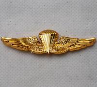 US U.S. Navy Parachute Parachutist Landings Wings Badge Pin Gold-US197
