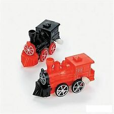 2 x PLASTIC WIND-UP TRAINS 10cm Birthday Party Favour Thomas Wind Up Train Toy
