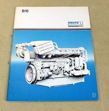 Prospekt Deutz MWM Motor 816 , Baureihe 816 Dieselmotoren , KHD