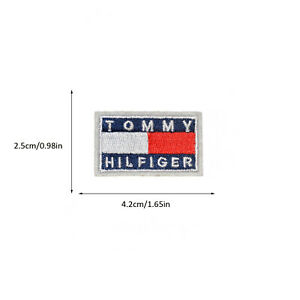 Tommy Hilfiger Embroidered Iron On Sew On Patch for Jacket Jeans