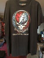 Grateful Dead Liquid Blue Classic Rock Cotton Concert Band T-Shirt Black Size XL