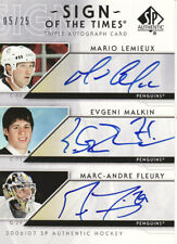LEMIEUX/ MALKIN (R) /FLEURY #5/25 SSP  2006 07 SP Authentic SOTT- TRIPLE AUTO
