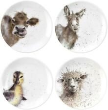 Royal Worcester Wrendale coupe side plate set of 4 donkey, duckling, sheep, cow